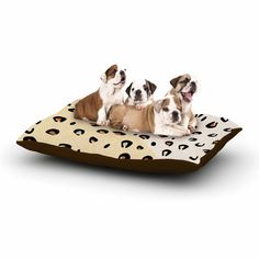 """AFE Images """"AFE Animal Print"""" Yellow Gold Animal Print Abstract Digital Illustration Dog Bed from KESS InHouse"""
