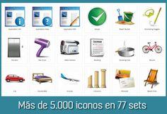 Dryicons es un sitio web que ofrece más de 5000 iconos gratuitos agrupados en 77 packs. #iconos
