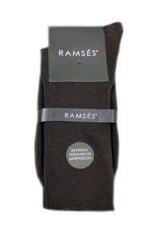 Calcetines de hombre Ramsés, acabado en canalé sin goma y sin elásticos. Algodón. Ideal para personas con problemas de circulación o varices. http://www.varelaintimo.com/marca/22/ramses