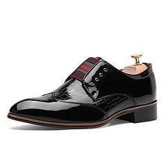 Черный+/+Синий+/+Бордовый+Мужская+обувь+Для+офиса+/+На+каждый+день+/+Для+вечеринки+/+ужина+Дерматин+Оксфорды+/+Без+застежки+–+RUB+p.+2+421,86