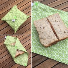 Idea only: Sandwich wrapper Sewing Tutorials, Sewing Crafts, Sewing Projects, Reusable Lunch Bags, Coin Couture, Creation Couture, Diy Crafts To Sell, Diy Gifts, Creations