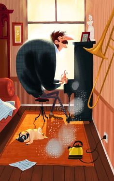 With Dogs by Olga Demidova, via Behance: