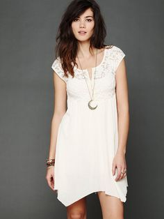 Free People Brushed Lace and Gauze Top, $88.00