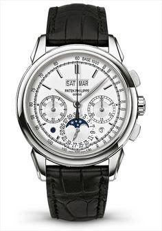 Patek Philippe 5270 Perpetual Calendar Chronograph Wht gld Silvery-opaline dial Ref 5270G-013