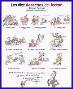 Los diez derechos del lector por Daniel Pennac | Lee y viaja. La Red BIBESCAN en el IES San Benito