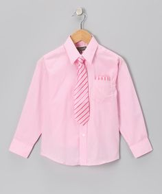 Take a look at this Pink Shirt Set - Infant, Toddler & Boys by Angels New York on #zulily today!