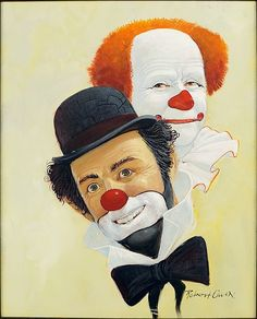 Robert Owen (American, B. 1930) Two Clowns. Lot 153-6195