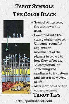 #Tarot #Tips, The Color BLACK in Tarot. jonikatarot.com Sign up for my newsletter   follow my blog   book a Tarot reading