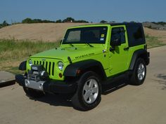 Jeep Wrangler - used jeep wrangler lime green - Mitula Cars Green Jeep Wrangler, 2005 Jeep Wrangler, Jeep Rubicon, Jeep Jk, Jeep Wrangler Unlimited, Lime Green Jeep, Four Door Jeep, Bentley Mulliner, Jeep Baby