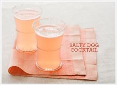 Salty dog cocktails in the prettiest shade of pink