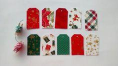 Tags em tecido de Natal