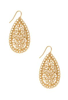 Filigree Fantasy Drop Earrings | FOREVER21 - 1000062494  Earrings for maty's wedding