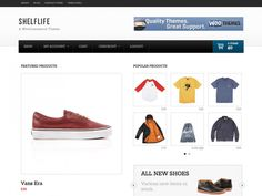 Shelflife is a clean, e-commerce focussed theme with a homepage dedicated to featured, popular and recent products with dedicated spaces for mini-features and promotions powered by their own custom post types, as well as a widgetized sidebar and footer regions.