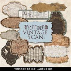 vintage style labels kit