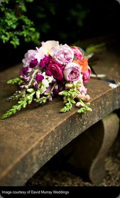 Cascading bouquet.