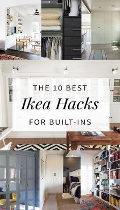10 Built-In Ikea Hacks To Make Your Jaw Drop The best built in Ikea hacks from around the web for wardrobes, shelving, and bookcases. You won't believe these transformations! Ikea Hacks, Diy Hacks, Billy Ikea, Up House, Ikea Furniture, Furniture Dolly, Furniture Online, Office Furniture, Built Ins