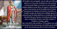 SAN NARCISO DE JERUSALÉN   Jerusalén, Israel - Jerusalén, Israel  ( 106  †222) Obispo y confesor     Narciso significa Hermoso         ...