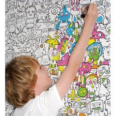 PAREDES PARA PINTAR..........Wonderland de Coordonne Kids para pequeños artistas