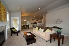 The Snowbrush by Hayden Homes - Living Room - the Snowbrush offers 4 bedrooms and 2 bathrooms with 2,046 sq. feet.