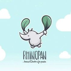 Rhino Pan, because Dumbo is for pussies Copyright © Dušan Rožić @dalajlampa. #foliage #leaf #vegetable #vegan #vegetarian #vibe #swisschard #relaxed #logo #brand #icon #mark #musically #sound #design #energy #illustration #organic #eco #natural #nature #rhino #peterpan #strong #graphicdesign #icon #logomark #green #sky