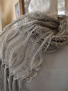 Drop Leaf Knitting Pattern : Long Leaves Scarf pattern by Grace Mcewen Stitches, Grace omalley and ...