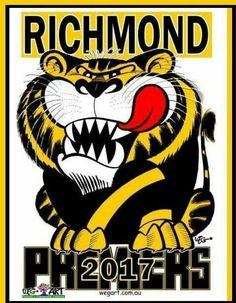 Richmond Football Club Richmond Football Club, Heavy Metal Bands, Team Photos, Yellow Black, Pattern Design, Champion, Sports, Wood Design, Tigers