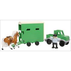 $29.99 - Includes pick-up truck, horse trailer, rider, and horse.  It?s hard to find good gifts for 3 year olds, but this toy is one of the best!rFor ages 3 .