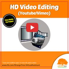 Freelancer available for Video Editing for your blogs, Youtube or Vimeo Channels. Pricing varies per project. Please contact us via facebook page and we will be happy to work for you.   #OrangeTreeVA #Video_Editing #Video_Editor_Australia #Video_Editor_Singapore #Video_Editor_Canada #Professional_Video_Editing #Youtube_Video_Editing #Vlog_Editing #Vimeo_Editing #OrangeTreeVA #remote_freelancer #freelancer #outsourcing #videoeditor #digitalmarketing