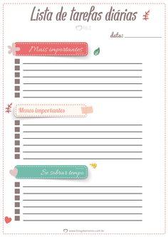 Para alcançar nossos objetivos precisamos nos organizar e a maneira mais fácil de conseguir isso é fazendo listas. As listas ajudam a planejar o dia a dia, o mês e até o ano, evitando esquecimentos e atrasos, e priorizando as…