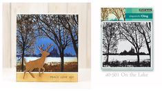 Scenic Stamping with Penny Black and MISTI                                                                                                                                                                                 More