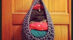 [Free Pattern] This Large Hanging Basket Can Be used For So Many Things… Including A Cat Hammock