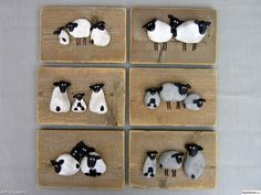 SHEEP - stone, natural stones, painting, paintings, painted rocks, nature finds, driftwood, sea, wall decorations, sheep, lambs, kids painting, kids paintings, handicrafts, homemade