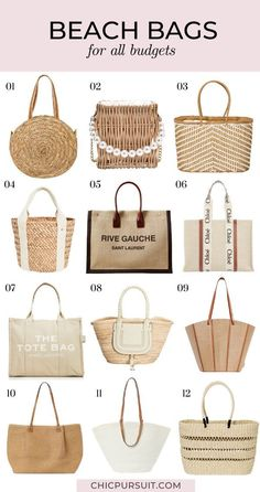 A collection of beach bags 2021, including the best straw bags, bamboo bags, tote bags, beach bags totes summer, wicker bags, designer bags for women, affordable bags and more. These beach bags summer 2021 exemplify fantastic summer bags beach, trendy handbags for women, summer bags handbags and summer bags 2021. #beachbags #handbags #summerbags #strawbags #totebags #designerbags #affordablebags #beachbagstotes Summer Accessories, Handbag Accessories, Women Accessories, Handbags Michael Kors, Purses And Handbags, Best Beach Bag, Fashion Bags, Mom Fashion, Fashion Outfits