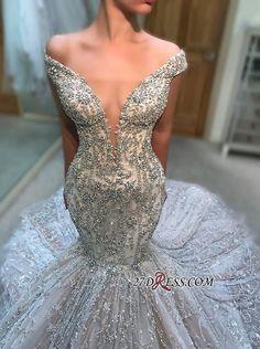 2019 Gorgeous Off-The-Shoulder V Neck Sleeveless Wedding Dress  d504f0cf2