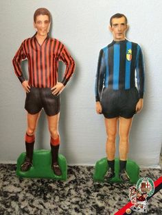 AC Milan and Inter Milan stand up figures in the 1960s.