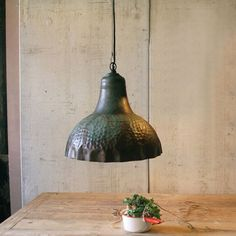 Julius Metal Pendant Lamp in Green Patina