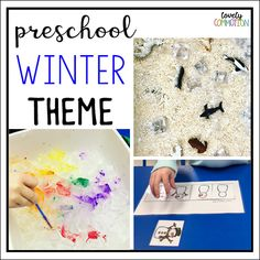 Plan a Winter Theme Unit for your Preschool Classroom or homeschool.  Ideas for activities, centers and book suggestions.
