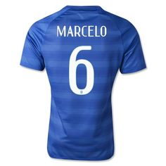 147e190c3 Sale Brazil 2014 MARCELO   6 Authentic Away Soccer Jersey