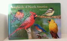 Puzzle Songbirds North America Oriole Chickadee Cardinal Bluebird Goldfinch 40 #Impact