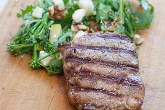 Steak with Rocket & Broccoli Salad 28 By Sam Wood, Broccoli Salad, Steak, Pork, Cooking, Recipes, Kale Stir Fry, Kitchen