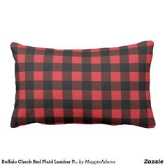 Shop Buffalo Check Red Plaid Lumbar Pillow created by MaggieAdams. Plaid Throw Pillows, Decorative Throw Pillows, Buffalo Check, Red Plaid, Lumbar Pillow, Louis Vuitton Damier, Pattern, Store, Accent Pillows