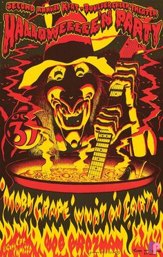 Classic Poster - Moby Grape at Boulder Creek Theater, Boulder Creek, CA 10/31/77 by Jim Phillips