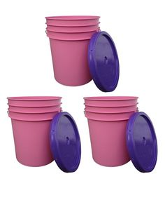 Who knew buckets came in my favorite colors - Pink and Purple. I use FOOD GRADE (very important) buckets in my garden and for food storage. Also great for around the house.
