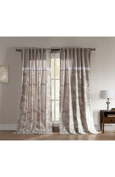 Free shipping and returns on kensie 'Clara' Window Panel at Nordstrom.com. A pretty floral print adds an airy, natural feel to linen-look curtains with lacy accents designed to brighten up any room.