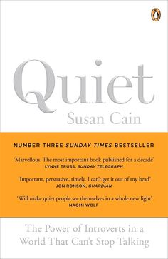 Quiet: The power of introverts in a world that can't stop talking : Susan Cain - One of the most amazing books I've read. Reminded me of the days when I was completely quiet. I've worked hard at learning how to talk to people.