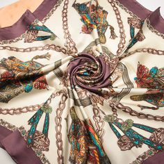 [15% OFF] 202050 90x90cm, 2 Colors Wholesale Women's Printed square Silk scarf Free Shipping
