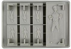 Carbonite Han Solo Ice Cube Tray #starwars