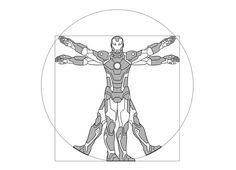 'Vitruviron Man' T-Shirt Design' (Threadless)