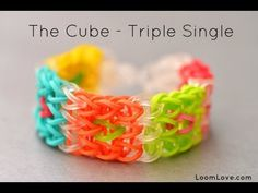 ▶ How to Make The Cube Rainbow Loom Bracelet - YouTube