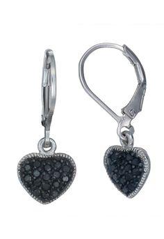 Vir Jewels 0.4 ct Black Diamond Earrings in Sterling Silver
